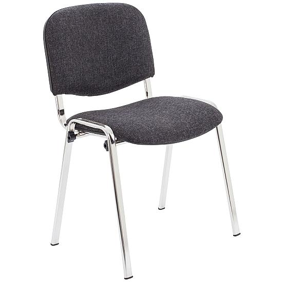 Club Chrome Stacking Chairs(Pack of 4) - Meeting Room Chairs