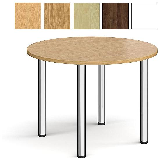 Chrome Tubular Round Meeting Tables - Office Furniture