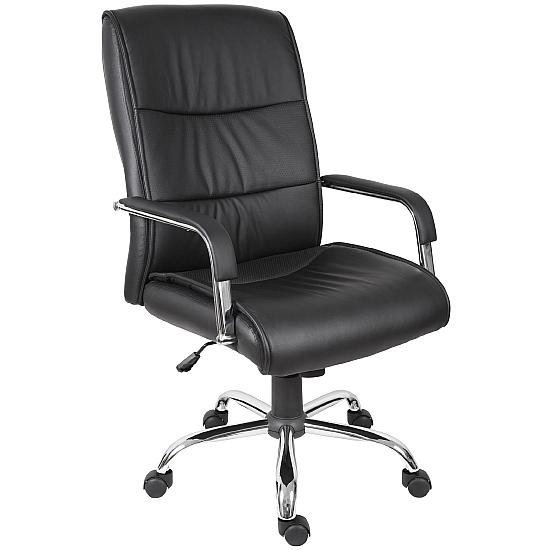 Kendal Black Leather Managers Chair - Office Chairs
