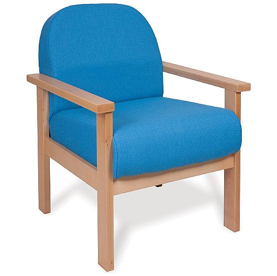 Deluxe Solid Beech Wooden Reception Armchair - Office Chairs