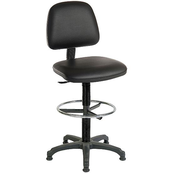 Ergo Leather Faced Draughtsman Chair