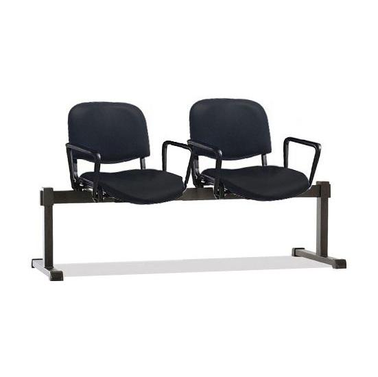 ISO Vinyl Beam Seating With Arms - Office Chairs