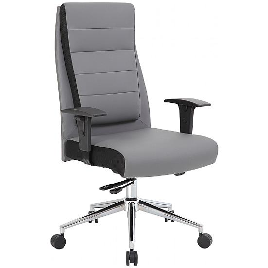 Icon Leather Faced Manager Chair