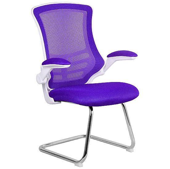 Airflow Mesh White Frame Visitor Chair