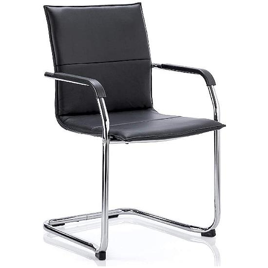 Kilo Leather Visitor Chair - Office Chairs