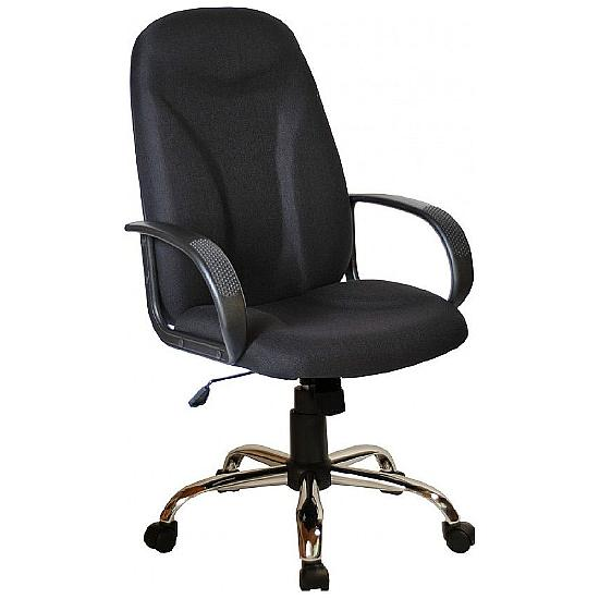 Perth Chrome Fabric Manager Chairs