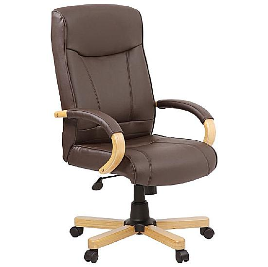 Richmond Brown Leather Manager Chair - Office Chairs