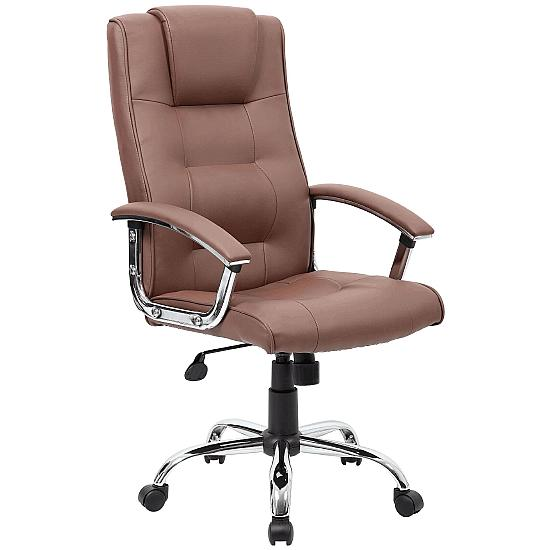 Melbourne Soft Touch Brown Leather Faced Manager