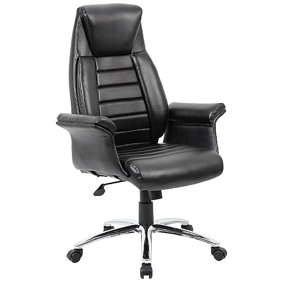 Chester Black Leather Manager Chair