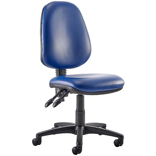 Trance Vinyl Operator Chair Without Arms