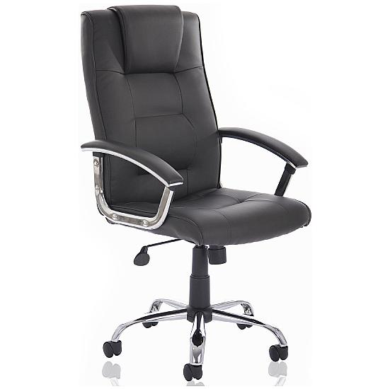 Melbourne Soft Touch Black Leather Faced Manager