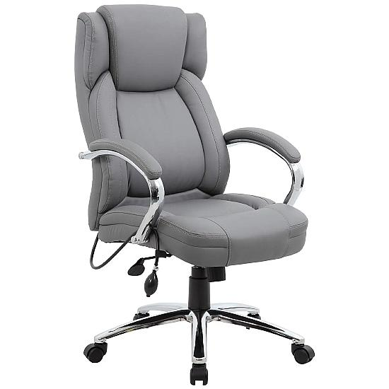 Posture Executive Grey Leather Office Chair