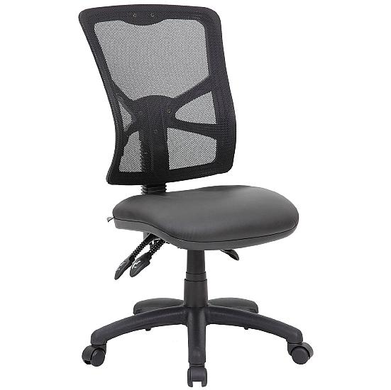 Comfort Ergo 3-Lever Leather Mesh Operator Chair