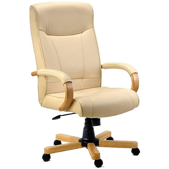 Knightsbridge Cream Leather Manager Chair