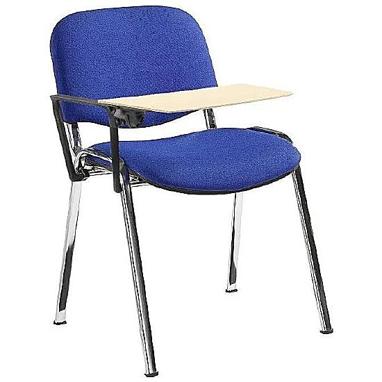 ISO Chrome Frame Conference Chair With Beech Writing Tablet (Pack of 4) - Office Chairs