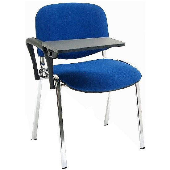 ISO Chrome Frame Conference Chair With Writing Tablet (Pack of 4) - Office Chairs