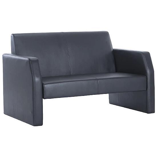 Brooks Leather 2 Seater Reception Chair
