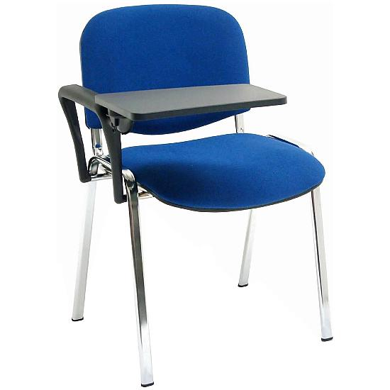 Club Chrome Stacking Chairs With Universal Writing