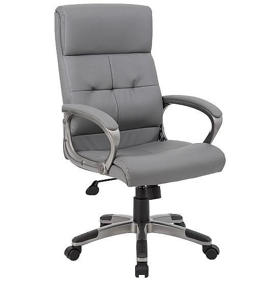 Dereham Grey Leather Manager Chair