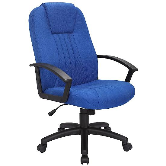 Pacific Blue Fabric Manager Chair