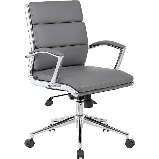 Venice Medium Back Leather Faced Managers Chair