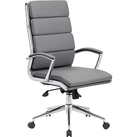Venice High Back Leather Faced Managers Chair