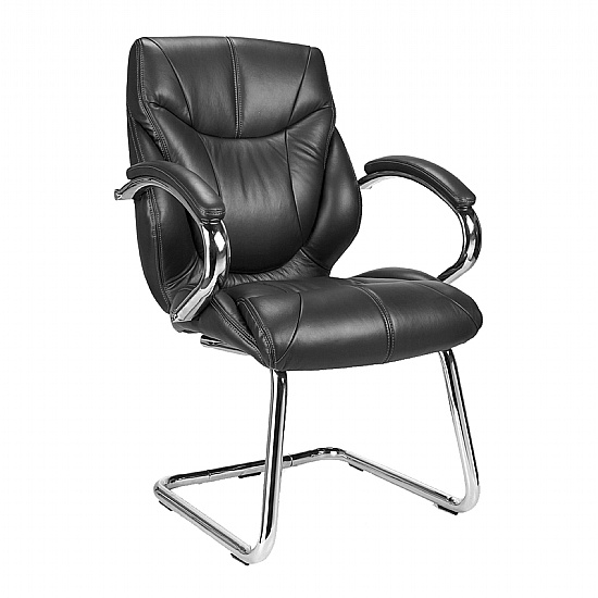Geneva Leather Visitor Chair