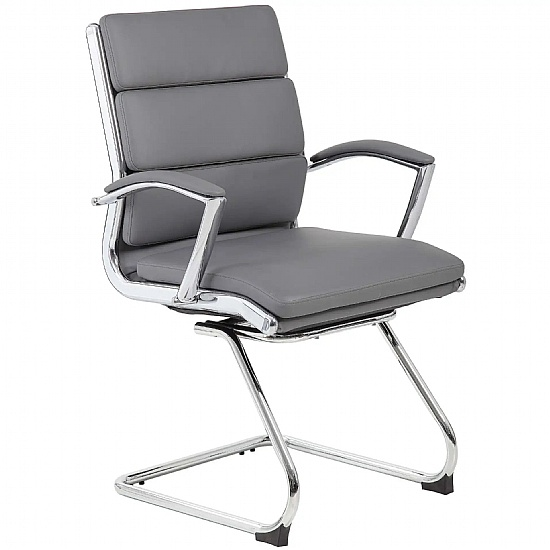 Venice Leather Faced Visitor Chair
