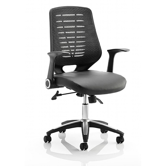 Houston Mesh Back Leather Chair