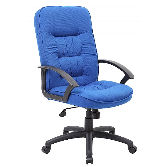 Coniston High Back Executive Blue Fabric Office Ch