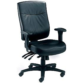 Marathon 24 Hour Leather Manager Chair
