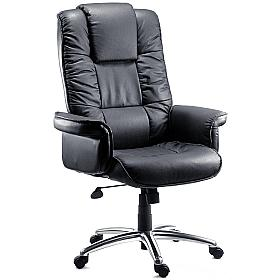 Lombard Leather Manager Armchair