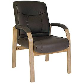 Richmond Brown Leather Visitor Chair