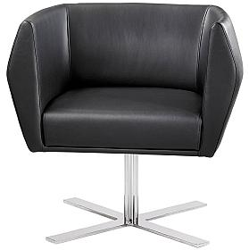 Premium HB1 Cruciform Leg Leather Reception Chairs