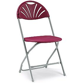 Fan Back Folding Chairs - Pack of 8