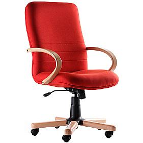 Ascot Medium Back Wooden Executive Chair