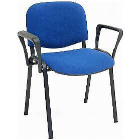 ISO Black Frame Conference Chair With Arms (Pack of 4)