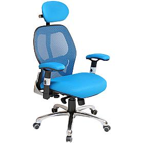 Ergo-Tek Blue Mesh Office Chair