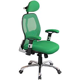 Ergo-Tek Green Mesh Office Chair