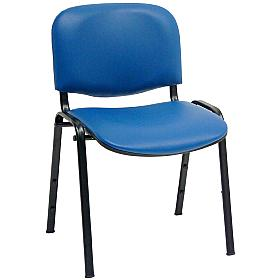 Vinyl Conference Chairs Black Frame (Pack of 4)