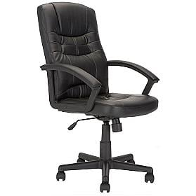 Barney Leather Faced Manager Chair