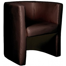 Glee Leather Faced Tub Chair Brown