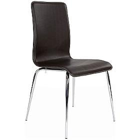 Leather Effect Stiletto Chair