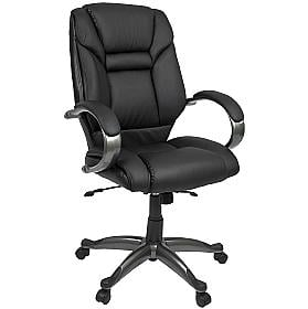 Bailey Black Leather Executive Chair