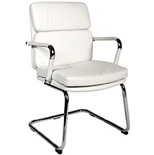 Deco Visitor Chair White