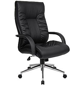Derby High Back Executive Leather Faced chair