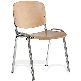 Fleet Chrome Frame Conference Chair Beech