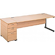 Rectangular Desks With Desk High Mobile Pedestal