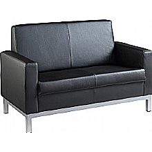 Helsinki 2 Seater Leather Faced Sofa