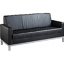 Helsinki 3 Seater Leather Faced Sofa